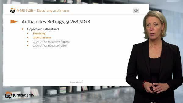 Betrug, § 263 - Täuschungshandlung - juracademy.de