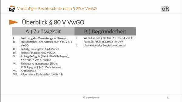 Vorläufiger Rechtsschutz Nach 80 Ff Vwgo